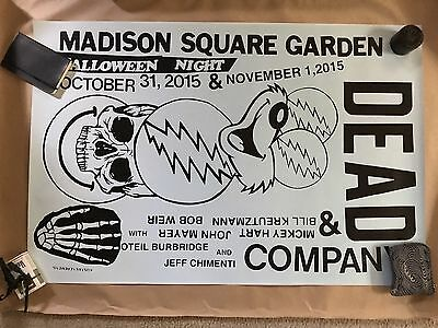 Grateful Dead And Company MSG NYC Halloween Promo Poster Kostas Seremetis