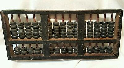 Antique Chinese Abacus Vintage Wood 105 Bead Abacus Old Wooden China Abacus