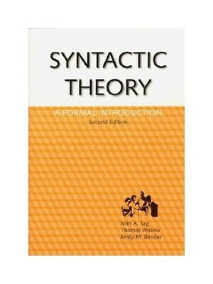 Syntactic Theory: A Formal Introduction. (CSLI Lecture Notes). Sag, Ivan A. and