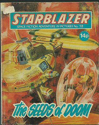 The Seeds Of Doom,no.38,starblazer Space Fiction Adventure In Pictures,comic