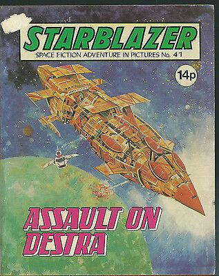 Assault On Destra,no.41,starblazer Space Fiction Adventure In Pictures,comic
