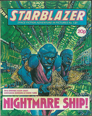 Nightmare Ship,no.121,starblazer Space Fiction Adventure In Pictures