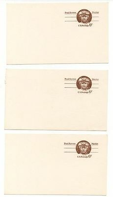 3 Paul Revere Patriot Six (6) Cent Post Cards Unused Unmailed Uncirculated