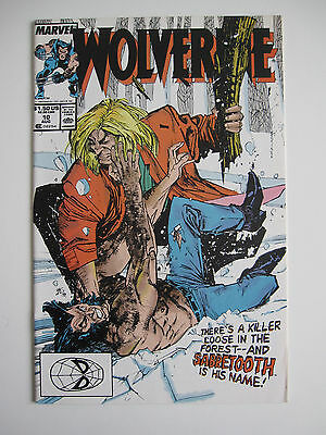 Wolverine #10  from Marvel Comics 1989 featuring Sabretooth