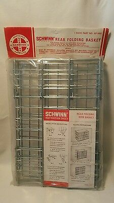 ☆ Vintage Original Schwinn Folding Rear Basket New Old Stock in Package #00 660