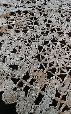 "True Antique 18"" Cantu type Bobbin Needle Lace Centrepiece  Doilies Doily (#60)"