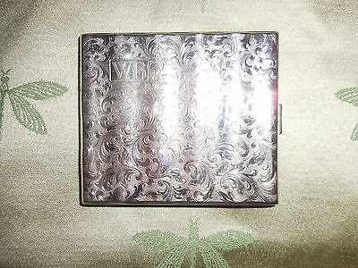 Vintage Hoke German( Alpacca)  Etched Scroll Cigarette Case