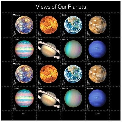 Us Space 2016 Scott #5069-5076 Views Of Our Planets 16 Mnhvf Forever Stamp Sheet