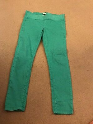 Mamas And Papas Maternity Jeans Size 14 Green