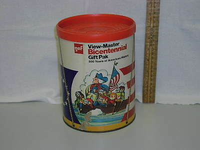 View Master Bicentennial Gift Pak, with 2 viewers, 55 reels, canister