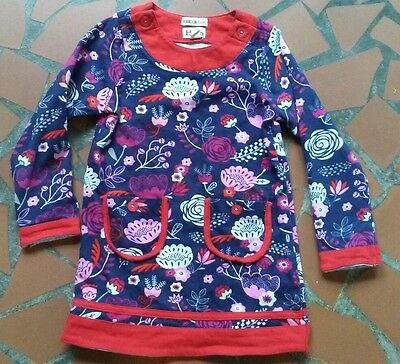 Hatley Girls Size 4 Red Navy Blue Pink Floral DRESS Canada
