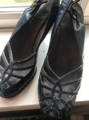 Vintage Slight Platform Navy 40s Cc41