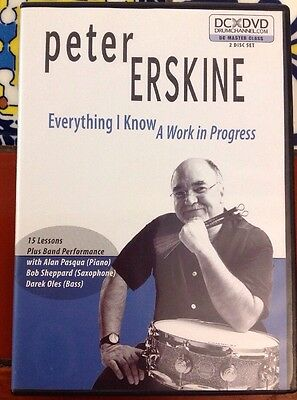 Peter Erskine Everything I Know A Work In Progress 15 Lessons Free Ship