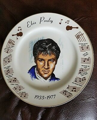 Elvis presley decoration Plate