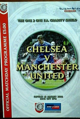 Chelsea V Man Utd 13/8/2000 Charity Shield