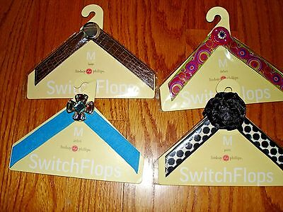 Lot of 4 NEW SWITCHFLOPS straps LINDSAY PHILLIPS  size Medium 7-8 New in package