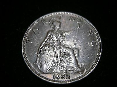 1932 King George V - Farthing Coin