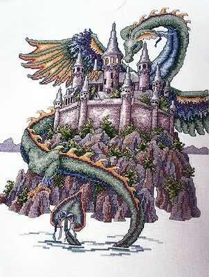 The Castle Dragon Teresa Wentzler Cross Stitch Chart Free Postage
