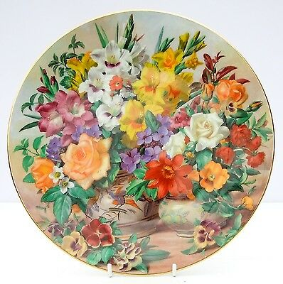 Vintage Royal Doulton Bone China Flowers of the Garden Plate Birds Fruit Floral