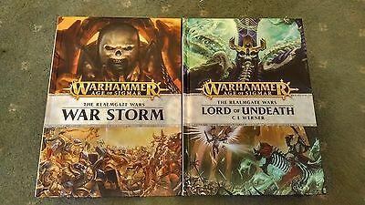 Warhammer Books Age of Sigmar Novels War Storm & Lord of Undeath AoS Stormcast