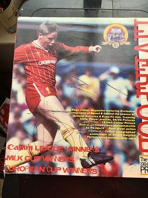 Liverpool FC Official 1984/5 Season Picture Vinyl LP And 32 Page Magazine
