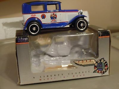 """LIberty Classic 1932 Ford Model A bank 1:24 blue/white """"Pepsi"""""""