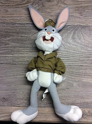 "Bugs Bunny Army Plush 14"" Collectible Warner Bros."