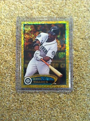 ++ Eric Thames 2012 Topps Gold Sparkle Baseball Card #us84 - Seattle Mariners ++
