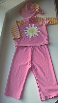 Cute Baby Girls 3 Piece Pink Sun Swim Suit From Nutmeg Age 9-12 Months (New)