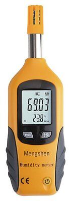 Mengshen® LCD Digital Psychrometer Mini Temperature and Humidity Meter with Dew