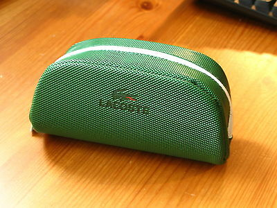 Original LACOSTE Glasses Sunglasses Spectacle Case Pouch Racing Green