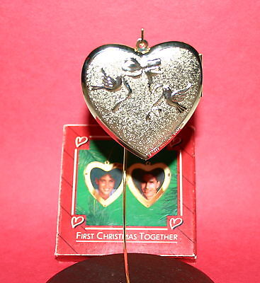 Hallmark Ornament 1986 First Christmas Together Locket