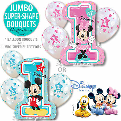 Mickey Or Minnie Boy Girl 1St Birthday Party Supplies  Decorations Foil Balloon