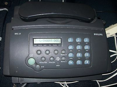 PHILIPS FAX MACHINE - HFC 21 / with answering machine good working condition