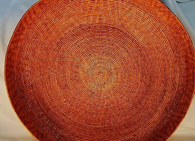 """Fantastic Basket apparently Asian  I don't know.20+inch diameter 4&3/4""""H"""
