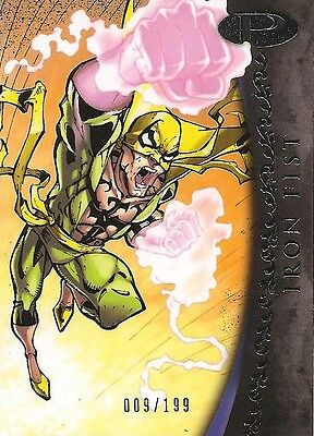 2012 Marvel Premier IRON FIST No. 13 Base Card #009/199