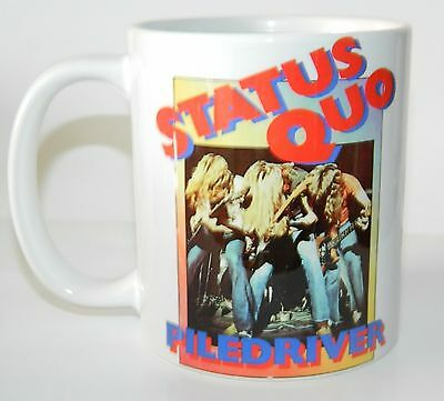 STATUS QUO 'PILEDRIVER' - STUNNING 11oz  COLLECTORS MUG - LIMITED QUANTITY