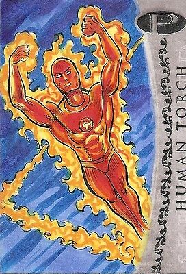 2012 Marvel Premier HUMAN TORCH sketch by Anthony Hochrein