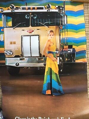 Vintage 1970 Fashion And Trucking Poster
