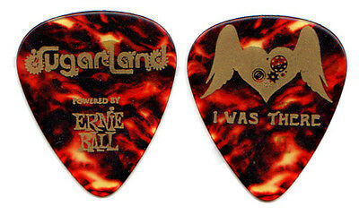 SUGARLAND Guitar Pick : 2011 Tour - I Was There tortoise picks heart wings