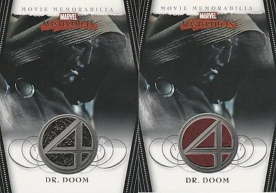 2008 Marvel Masterpieces Series 2 FANTASTIC FOUR Costume Card Lot of 2 DR. DOOM