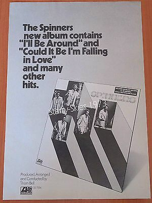 The Spinners~Friends Of Distinction Two Sided 1973 Vintage Promo Ad
