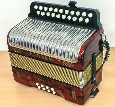 Hohner Erica D/G Melodeon, vintage Made in Germany