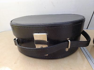Original Vintage 1960's Black Patent Vanity Case / bag
