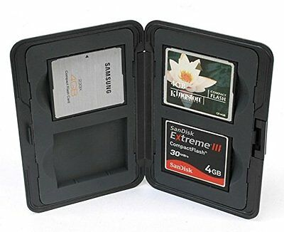 King of Flash Compact Water Resistant Memory Card Case Holder Hard Plastic 4 X