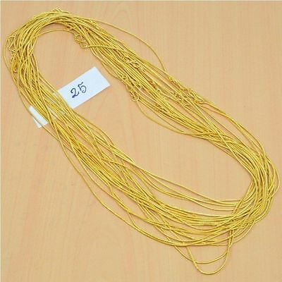 Wholesale 25Pc 24Ct Gold Overlay Plain Snake Chain Necklace Lot Length-22