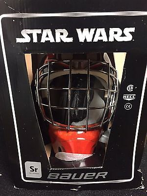 Bauer NME 3 Designs Darth Vader Senior Goalie Hockey Helmet Mask! Star Wars