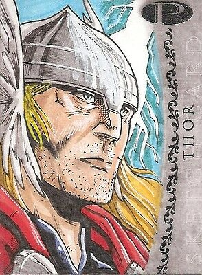 2012 Marvel Premier THOR sketch by Unsigned