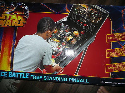 Pinball Star Wars Space Battle Free Standing Electronic Arcade Sound Light LCD