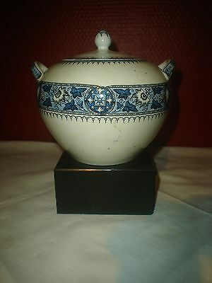Antique sucrier suger bowl Bates, Elliot & co (English Porcelain 1790) mark B
